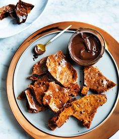 This chocolate honeycomb is great dipped in extra chocolate, or crumbled over ice-cream.