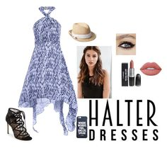 """""""hipster halter"""" by morganhackford ❤ liked on Polyvore featuring REGALROSE, Pour La Victoire, Gap, Lime Crime, halterdresses and shouldershowdress"""