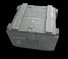 army surplus ammo box wooden used for the storage of rations now in stock come and have a look today at www.armysurplusandtoys.com