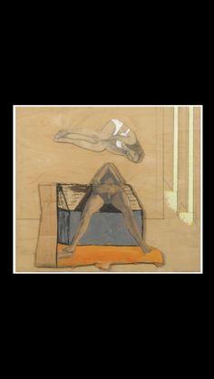"""Pat Andrea - """" Couple """", 1987 - Technique sur panneau - 35 x 40 cm"""