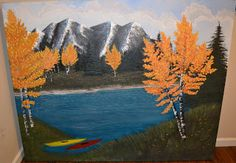 20 sq ft Mountain Lake Painting  By Bel Fiore Artistry
