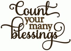 Silhouette Online Store: count your many blessings - vinyl phrase