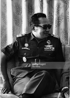 Portrait of Indonesian military leader General Suharto, in uniform,. Historical Pictures, World History, Armed Forces, Presidents, 30 September, Military, Stock Photos, Portrait, Appointments