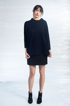 PULLOVER AIRES Navy WOOLknit via LE STOCKHOLMSYNDROME. Click on the image to see more!