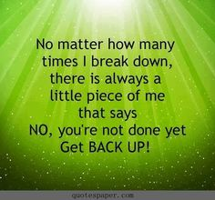 Get back up #quote