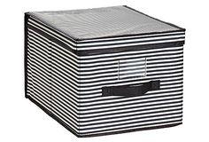Large Storage Box, Stripe on OneKingsLane.com