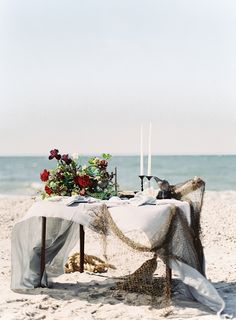 A little inspiration! The amazing and innovative styling of served to create this intimate, seaside retreat. We adore these stylish ideas for bold, modern couples planning a one-of-a-kind celebration! Seaside Wedding, Mod Wedding, Nautical Wedding, Wedding Shoot, Summer Wedding, Bridal Shoot, Beach Weddings, Nautical Theme, Destination Weddings