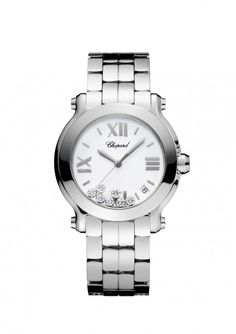 Chopard Reloj Reloj Happy Sport Mediano acero y diamante
