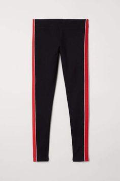 5d362be58b1 H M Leggings with Side Stripes - Black H m Leggings