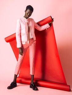 Fotografía editorial y paletas de color: rosa vs. rojo | Adarve Photocollage #africafashion,
