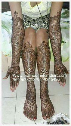 Bridal Mehendi with  & Var & Vadhu design. ..
