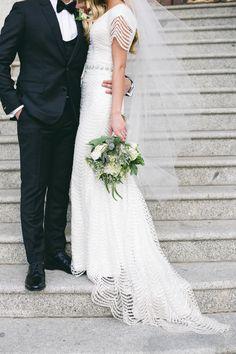modest wedding dress from alta moda on fashion blogger Makenna Alyse.         ----              photo by jessica janea