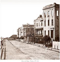 Civil War Photo - Houses on the Battery - Charleston, SC 1865