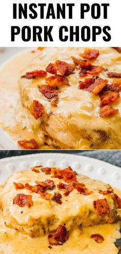 - These Instant Pot boneless pork chops are one of the best pressure cooker reci. - – These Instant Pot boneless pork chops are one of the best pressure cooker recipes: tender meat - Pork Chops Instant Pot Recipe, Chops Recipe, Bacon Gravy, Best Pressure Cooker Recipes, Instant Pot Dinner Recipes, Instant Recipes, Boneless Pork Chops, Pork Chop Recipes, Tender Meat