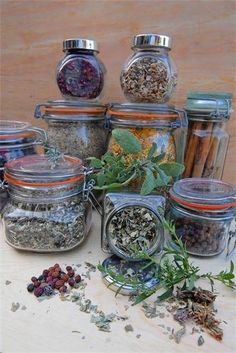 MAGIC HERB JAR   Make one jar with the following:   Cinnamon [for dream Magick]   Nutmeg [for good luck]   Allspice [healing]   Ginger [lunar Magick]   Basil [protection]   Fennel seeds [spiritual healing]   Garlic [spiritual purification]   Marjoram [protection]   Sage [spiritual purification]   Cloves [protection]   Mustard seed [protection]   Before you do any scrying or any kind or psychic work, inhale the scent deeply and shake the jar gently.