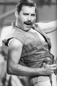 Freddie Mercury...THE greatest rock singer ever...though he could sing anything...even opera.