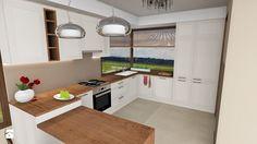 Delikatna kuchnia z narożnym oknem - Kuchnia, styl klasyczny - zdjęcie od RootDesign Paweł Korzeniewski