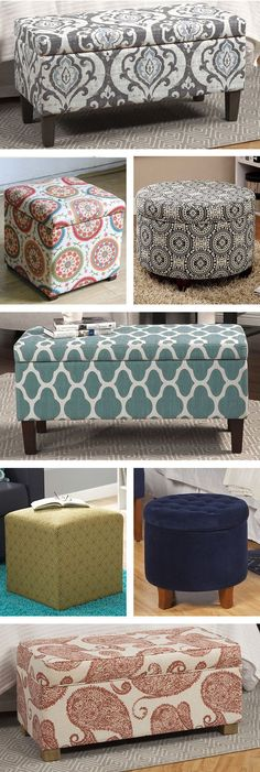 With the school year winding down you will soon begin buying stuff for your college dorm room. While making the list of things needed for your future home, don't forget these 15 things that can make your dorm a little better. Pouf Ottoman, Ottoman Ideas, Ottoman Storage, Storage Benches, Sofa Ideas, Fabric Storage, Storage Ideas, College Dorm Rooms, Woodworking Plans