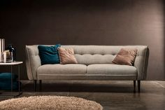 NEW in, the Mallow Sofa. so comfy it's like sitting on a cloud! Living Room Sofa, Home Living Room, Montauk Sofa, Decoration Table, Settee, Contemporary Furniture, Contemporary Lounge, Sofas, Cool Designs
