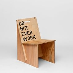 UV Printing on Assembled Wooden Chairs (Artist: Rirkrit Tiravanija - Do Not Ever Work) #UVPrinting