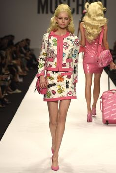 Barbie theme @ Moschino RTW Spring 2015 - Milan Fashion Week