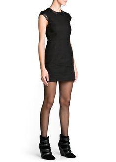 Appliqué quilted dress/ Mango