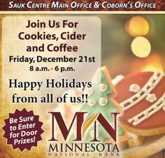 Open House in Sauk Centre on Friday!