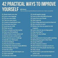 Ways to improve you
