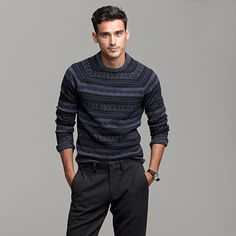 Not sure if this will look great on me, but it's pretty cool: J. Crew Lambswool noir Fair Isle sweater