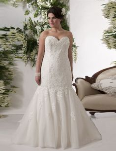 e4f78c01953 New Charming Plus Size Wedding Dresses Sweetheart Lace Floor Length Mermaid  Bridal Gowns Lace up Back Vestidos De Noiva W610-in Wedding Dresses from ...