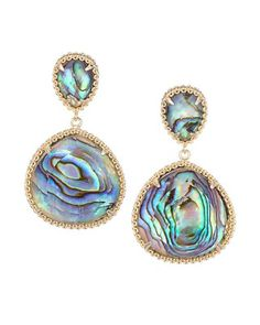 Penny Earrings in Abalone Shell - Kendra Scott Jewelry. Available January 22, 2014.