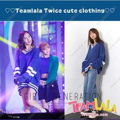 TEamlala 韓国売れ行き品 TWICEメンバー ミナ Vネック 欧米系 セーター フリーサイズ