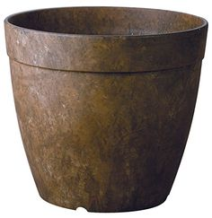 "August Grove Burdette Self-Watering Stone Pot Planter Colour: Rust, Size: "" H x W x D Lawn And Garden, Garden Pots, Home And Garden, Herb Garden, Garden Ideas, Container Plants, Container Gardening, Plant Containers, Self Watering Planter"