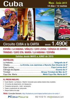 #Cuba Cuba, la perla del Caribe. ¡Descubre la belleza, la historia y la cultura de Cuba, en este circuito que os proponemos!. http://kobatours.com/viajes/caribe/cuba-a-la-carta-1