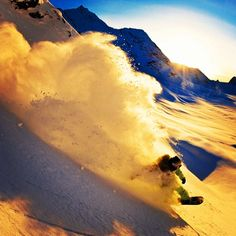 End of day combo of powder and sunlight. Scotty Lago Photo by #twsnow Nick Hamilton  #snowboarding #alaska