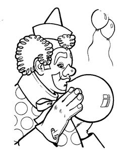 circus-clipart-of-a-coloring-page-outlined-circus-clown-riding-a ...