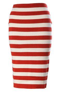 apostolic stripe skirt | ... -cream Stripe Elastic Knitted Skirt | Pentecostal/Apostolic Fas