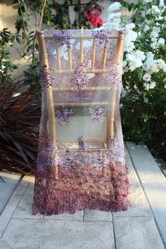Chair cover made out of lace, so romantic and pretty!