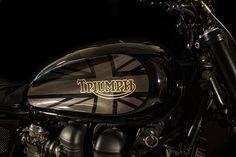"Triumph Bonneville Brat Style ""Dark Resurrection"" by Padova Custom #motorcycles #bratstyle #motos | caferacerpasion.com"
