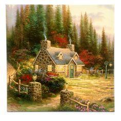 Thomas Kinkade Gallery Canvas Wrap - Pine Cove Cottage