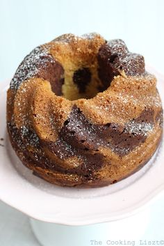 Marble chocolate bundt cake (Rachel Allen recipe)