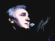'Charles Aznavour' von Dirk h. Wendt bei artflakes.com als Poster oder Kunstdruck $18.03