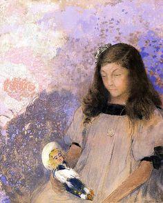 Odilon Redon - Portrait of Simone Fayet
