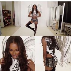 #vsfsupdates First look at Jasmine's punk angel outfit. The punk angels is a collaboration with Balmain http://misstagram.com/ipost/1648940260174719607/?code=BbiNm4fjep3
