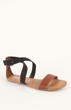 Black Poppy Ankle Cross Sandals #BlackPoppy #PacSun