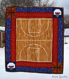 Anja Quilts: TGIFF - Basketball Quilt
