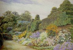 George Samuel Elgood:  Crathes Castle Castle, Cottages, Victorian, Paintings, Artists, Google Search, Garden, Cabins, French Country Cottage