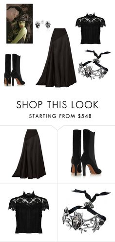 Is anyone ready for helloween? by maybabyfan on Polyvore featuring Alice + Olivia, Lanvin, Alaïa and Bling Jewelry