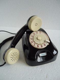 Telefone Siemens De Disco Antigo Retro Raridade.........