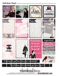 Devil Wears Chanel Planner Printable - Victoria Thatcher